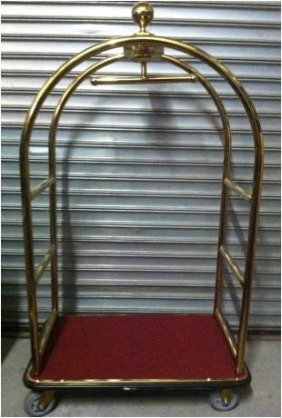 Bellman's Luggage Cart - BARKODE PROPS INC